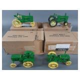 4pc Scale Models John Deere Tractor Toys w/ Box