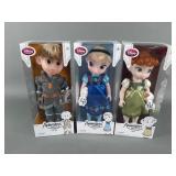 3pc Disney Animators Frozen Dolls NIB