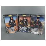 3pc Harley-Davidson Barbie Dolls NIB w/ #1