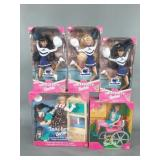5pc Barbie Pink Box Dolls NIP w/ Becky