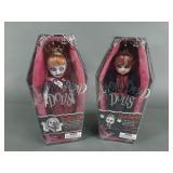 Living Dead Dolls Lizzie Borden & Deadbra Ann NIB