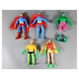 5pc Vtg Mego WGSH Figures w/ Superman