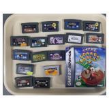 17pc Nintendo Game Boy Advance GBA Games