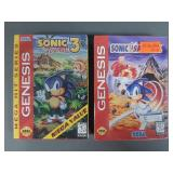 Sega Genesis Sonic 3 & Spinball Games SEALED