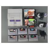 Super Nintendo SNES Console w/ 8 Games