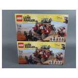 2pc Lego Lone Ranger 79108 Stagecoach Escape