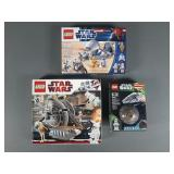 3pc Lego Star Wars Sets NIB Sealed