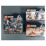 3pc Lego Star Wars Sets NIB w/ Lightsaber Duel