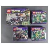 4pc Lego Ninja Turtles TMNT Sets NIB