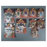 10pc Mattel Yu-Gi-Oh Figures & Keychains NIP