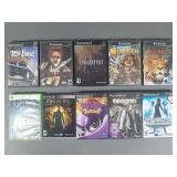 10pc Video Game Lot w/ Gamecube, PS2, XBox
