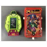 Vtg Spiderman & Hulk Handheld Games