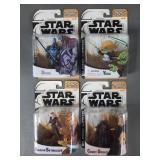 4pc Star Wars Clone Wars Animated Figures NIP