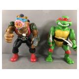 Vtg TMNT Ninja Turtles Be Bop & Raphael Figures