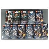 11pc Lego Star Wars Buildable Figures NIB