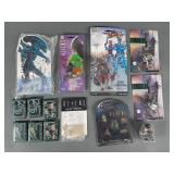 Aliens Collectibles Lot w/ Pin Set, Keychains