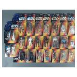 23pc Star Wars POTF2 Orange Card Figure Collection