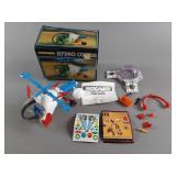 Vtg Micronauts Hydrocopter w/ Box & Extras