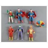 6pc Vtg Kenner Super Powers Figures