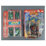 2pc Vtg Ninja Turtles TMNT Bootleg KO Figures NIP