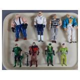 8pc Vtg Super Powers & Cops N Crooks Figures