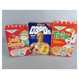 3pc Star Wars & Battlestar Galactica Cereal Boxes