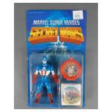 Vtg Marvel Secret Wars Captain America Figure NIP