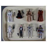 8pc Vtg Star Wars Figures Complete w/ Fett, Leia