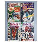 4pc Silver Age Fantastic Four Comic Books