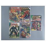 Silver Age Fantastic Four #62-66 Comic Run