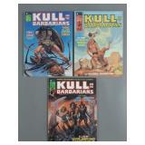 Kull The Barbarian #1-3 Comic Magazines