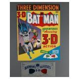 1953 3D Batman Comic Book w/ Glasses