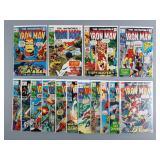 15pc Bronze Age Iron Man Comics #28-42 Run