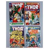 4pc Silver Age Thor Comic Books