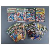 46pc Bronze Age Captain America Comic Books
