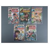 Bronze Age Giant Size Conan #1-5 Comic Books