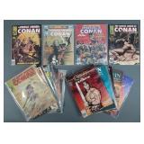 20pc Vtg Conan Graphic Novels & Magazines