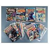 29pc Bronze Age Marvel Horror Comic Books