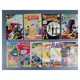 10pc 10 Cent DC Comic Books w/ Flash, Action