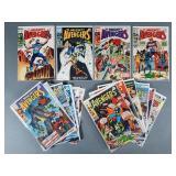 19pc Silver & Bronze Age Avengers Comic Books