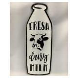 29 in Metal Dairy Sign