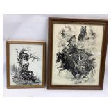 2 ONeill Prints, 12 x 16 & 19 x 23