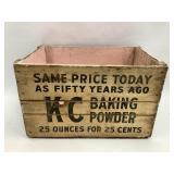 21 x 13 x 14 KC Baking PowderWood Crate