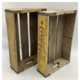 2 Wood Coca Cola Crates