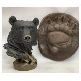12 in Bear Figurine & Footprint