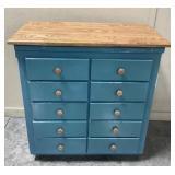 33 x 35 x 19 10 drawer chest