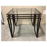 Metal & Glass End Table