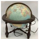 16 in Light Up Globe w/ Plastic Base