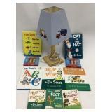 Dr Seuss Books, Lamp & 2 Puzzles