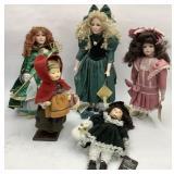 5 Porcelain Dolls